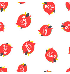sale 90 off discount price tag icon seamless vector image