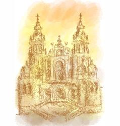 Santiago de Compostela vector image