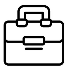 Satchel laptop bag icon outline style vector