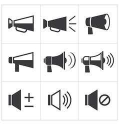Set megaphone icon vector