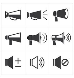Set of megaphone icon vector