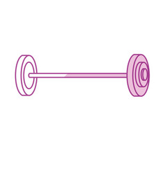 Silhouette dumbbell fitness tool to do exercise vector