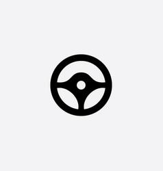Steering wheel symbol icon vector