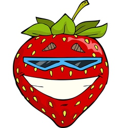 Strawberries in sunglasses vector