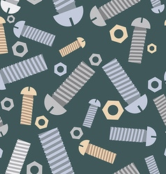 Technical seamless pattern bolts and nuts vector image