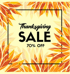 Thanksgiving sale banner promo template vector