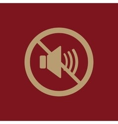 The no sound icon Volume Off symbol Flat vector