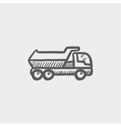 Trailer truck sketch icon vector image