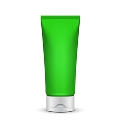 Tube Of Cream Or Gel Green Silver Clean Product vector image