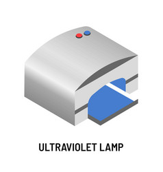 Ultraviolet lamp for manicure with gel polish or vector
