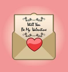 Valentine propose mail vector