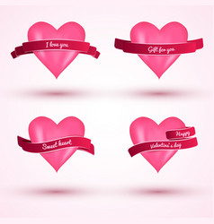 valentine s day 2x2 love cards vector image