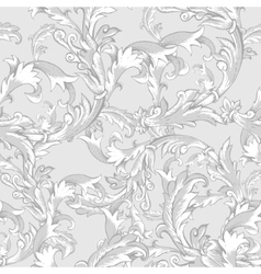 Vintage baroque seamless pattern with swirls vector