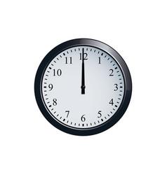 wall clock set at 12 o clock vector image
