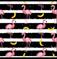 cute seamless flamingo pattern vector image vector image