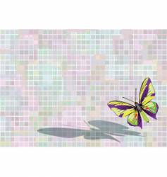 flying butterfly vector image vector image