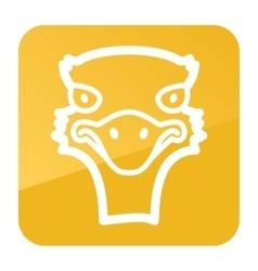 Ostrich icon Animal head vector image vector image