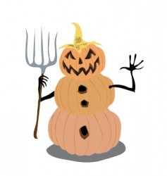 pumpkin man vector image vector image