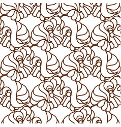 Seamless abstract pattern in black and whi vector