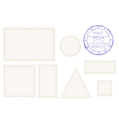 blank post stamp shape - rectangle triangle vector image