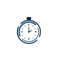 clock logo vctor vector image vector image
