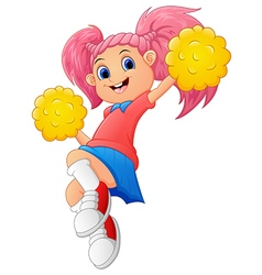 Girl cartoon Cheerleader vector image