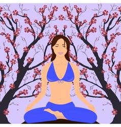 Girl in Yoga Pose vector image