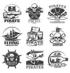 Pirates Emblem Set vector image vector image