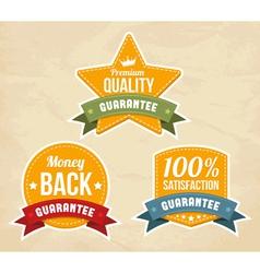 Retro guarantee labels vector image vector image