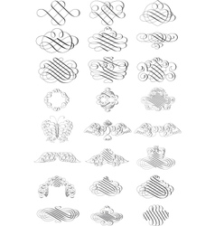 scroll borders vector image