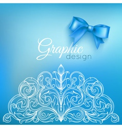 Background Bow and Ornamental Pattern vector image