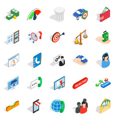 cool idea icons set isometric style vector image