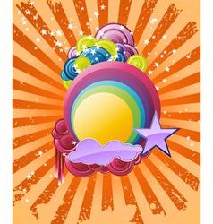 discotheque rainbow vector image