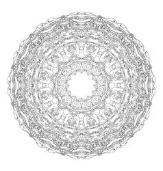 Mandala shaped contoured birds flowers leaves vector image vector image