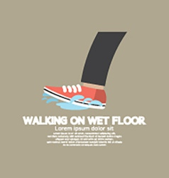 Walking On Wet Floor vector image vector image