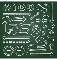 Arrows icons on chalkboard vector image vector image