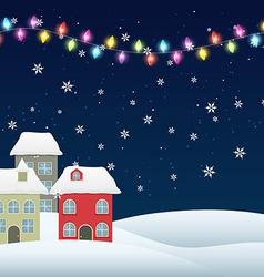 christmas season design vector image vector image