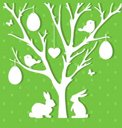 easter paper decoration in form of easter tree vector image vector image