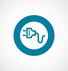 electrical plug icon bold blue circle border vector image vector image