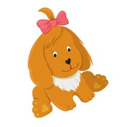 friendly happy dog vector image
