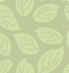 Green leaves seamless pattern Natural retro vector image vector image