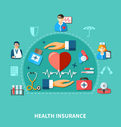 medical insurance flat concept vector image vector image