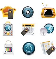 television icons vector image vector image