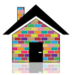 A colorful house vector