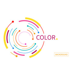 Abstract background with color circle line on vector