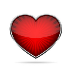Abstract heart button vector