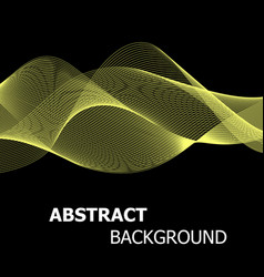 abstract yellow line wave background vector image