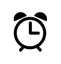 alarm clock icon isolated on white background vector image
