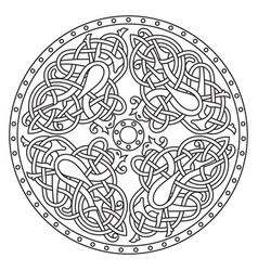 Ancient celtic mythological symbol bird celtic vector