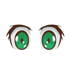 Anime eyes design vector
